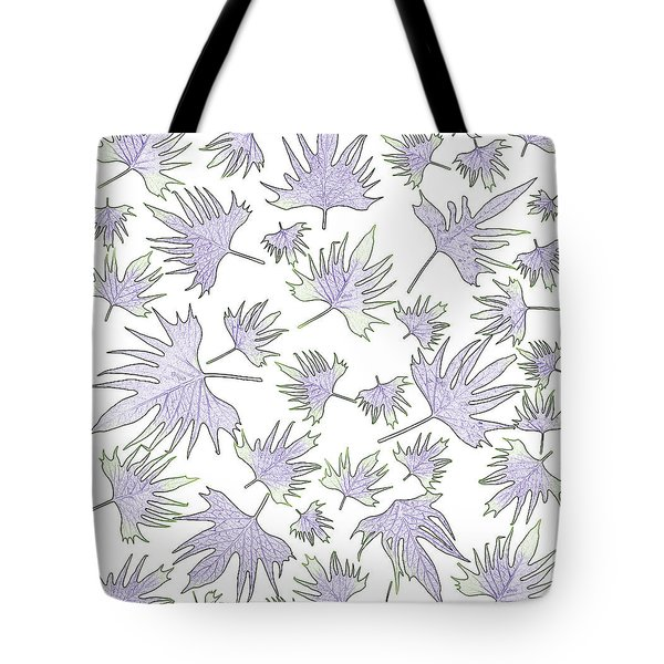 Canary Vine Leaves - Purple And Green Tote Bag by Sandra Foster