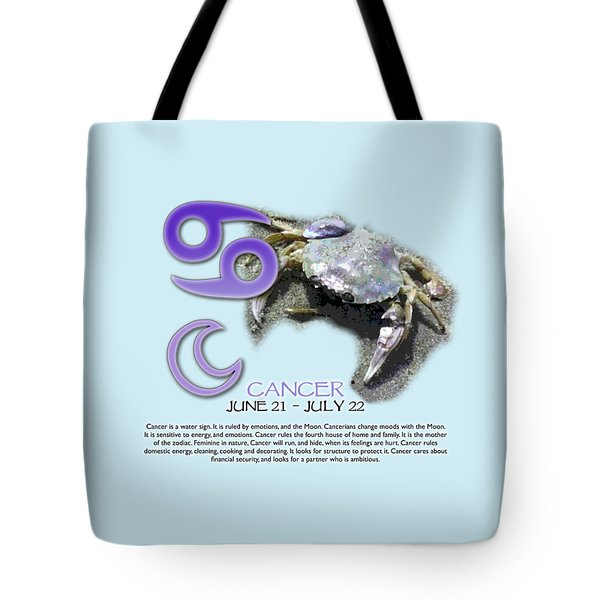 Cancer Sun Sign Tote Bag
