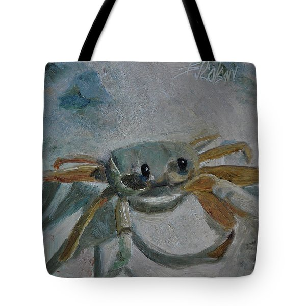 Tote Bag featuring the painting Cancer's Are Not Crabby by Billie Colson
