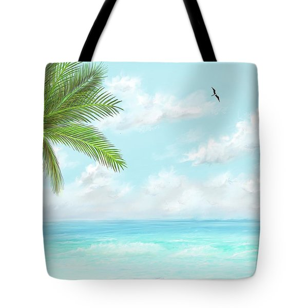 Tote Bag featuring the digital art Cancun At Christmas by Darren Cannell
