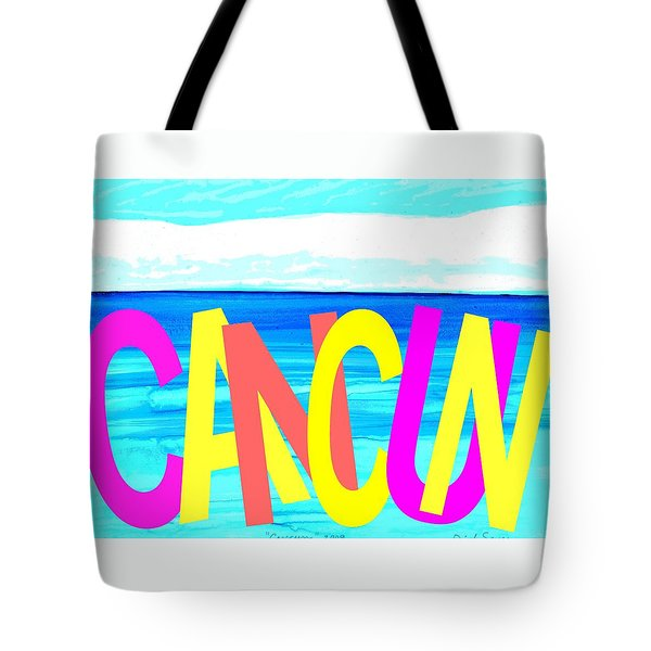 Cancun Poster T-shirt Tote Bag