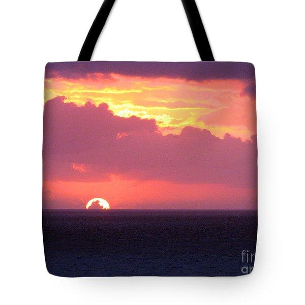 Sunrise Interrupted Tote Bag