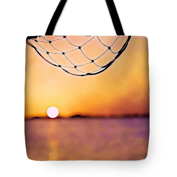 Cancun Sunset On The Lake Tote Bag