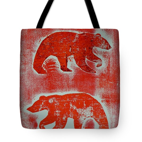 Candadian Bears Two  Tote Bag