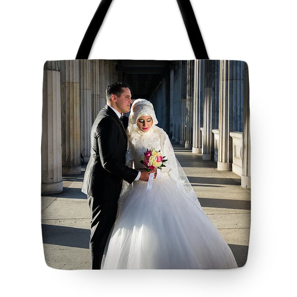 Candid Wedding Shot Tote Bag