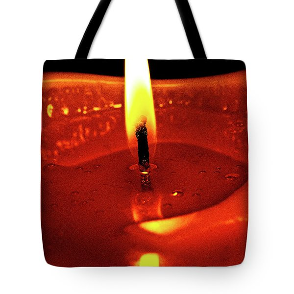 Candle Flame Tote Bag by Christopher Holmes
