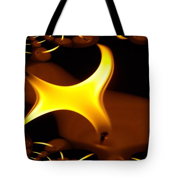 Candle Flame Fractal Tote Bag