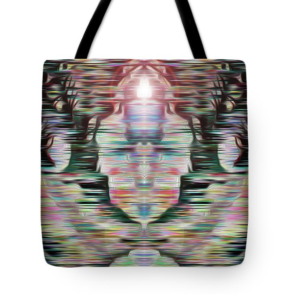 Tote Bag featuring the digital art Alignment by Mark Greenberg