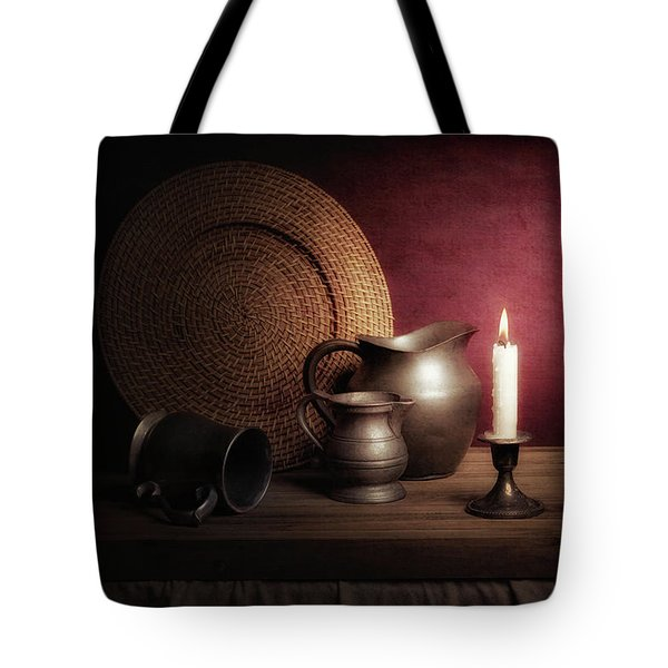 Candle Light Still Life Tote Bag