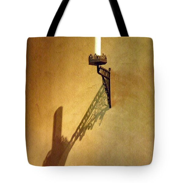 Candle On The Wall Tote Bag