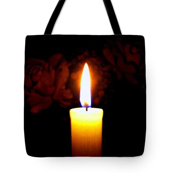 Candlelight And Roses Tote Bag