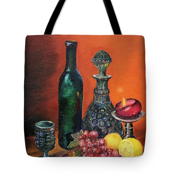 Candlelight Decanter Tote Bag