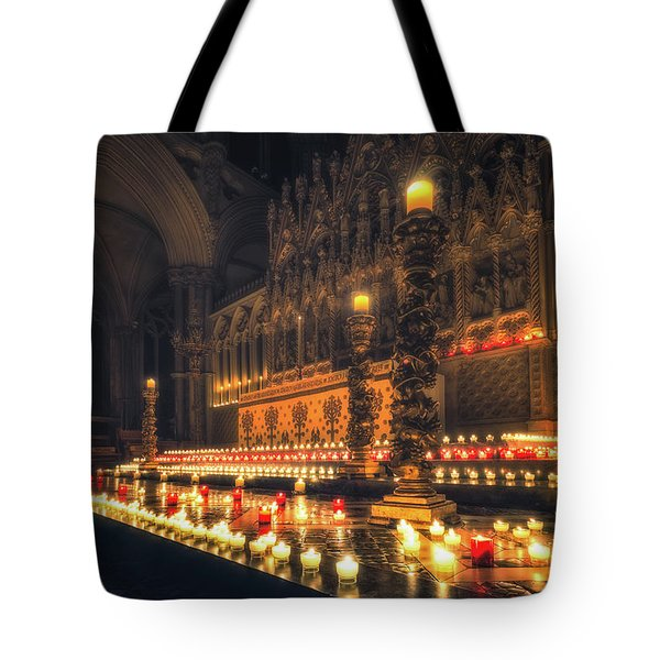 Tote Bag featuring the photograph Candlemas - Altar by James Billings