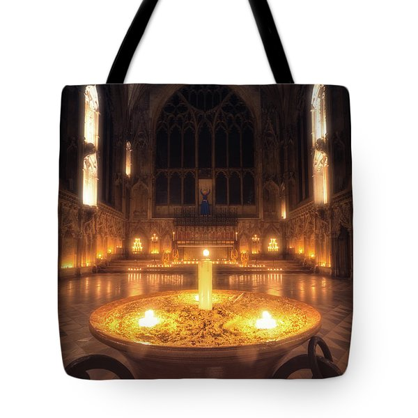 Tote Bag featuring the photograph Candlemas - Lady Chapel by James Billings