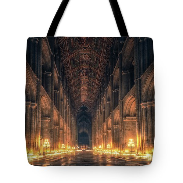 Tote Bag featuring the photograph Candlemas - Nave by James Billings