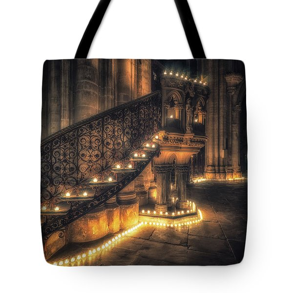 Tote Bag featuring the photograph Candlemas - Pulpit by James Billings