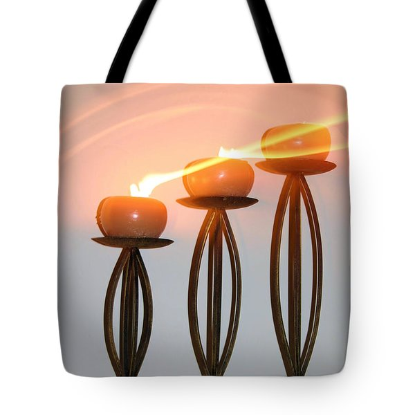 Candles In The Wind Tote Bag by Kristin Elmquist