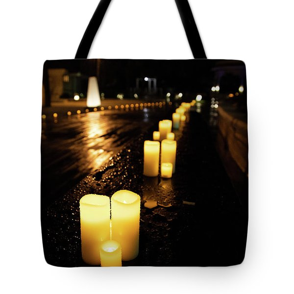 Candles On The Beach Tote Bag