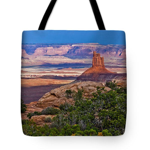 Candlestick Tower Stormlight Panorama Tote Bag