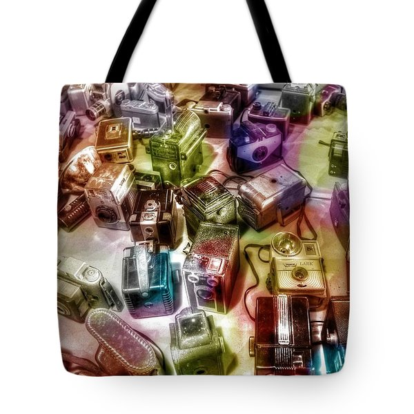 Tote Bag featuring the photograph Candy Camera by Michaela Preston