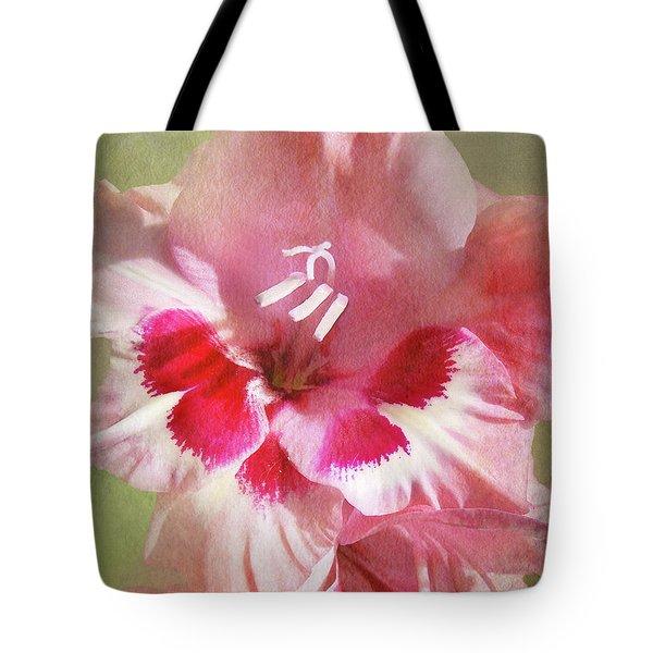 Candy Cane Gladiola Tote Bag