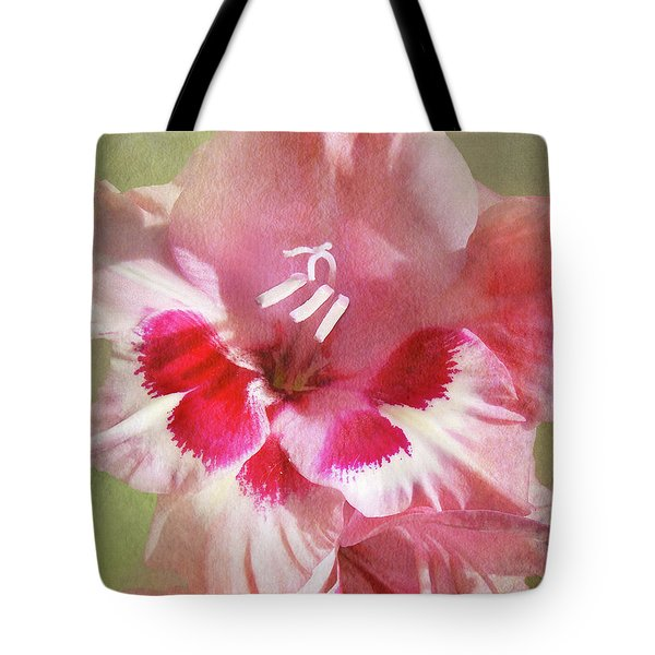 Candy Cane Gladiola Tote Bag