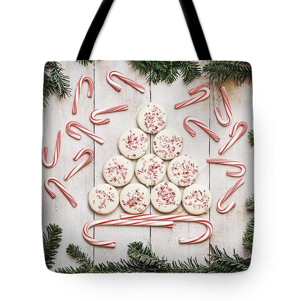 Tote Bag featuring the photograph Candy Cane Lane by Kim Hojnacki