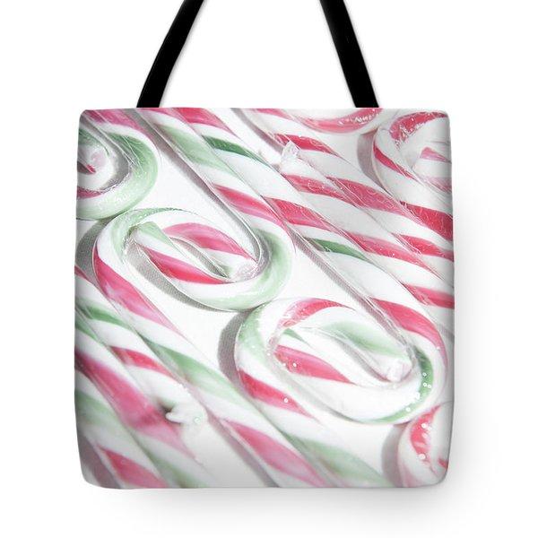 Candy Cane Swirls Tote Bag