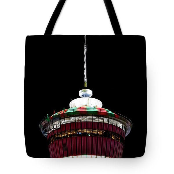 Tote Bag featuring the photograph Candy Cane Tower by Brad Allen Fine Art
