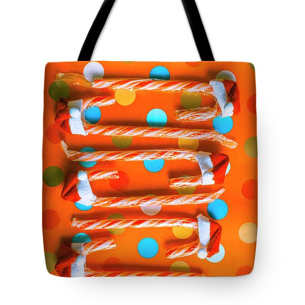 Candy Canes And Christmas Hats Tote Bag