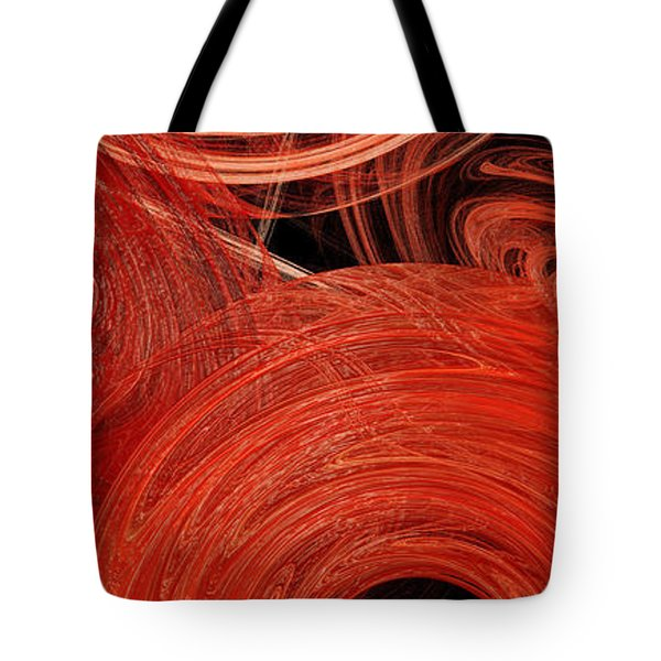 Tote Bag featuring the digital art Candy Chaos 2 Abstract by Andee Design