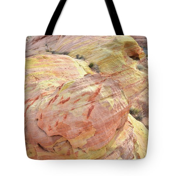 Tote Bag featuring the photograph Candy Colored Sandstone In Valley Of Fire by Ray Mathis