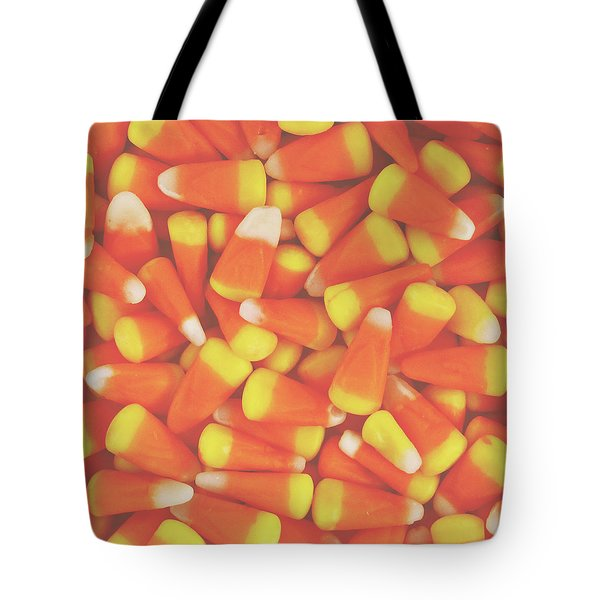 Candy Corn Square- By Linda Woods Tote Bag