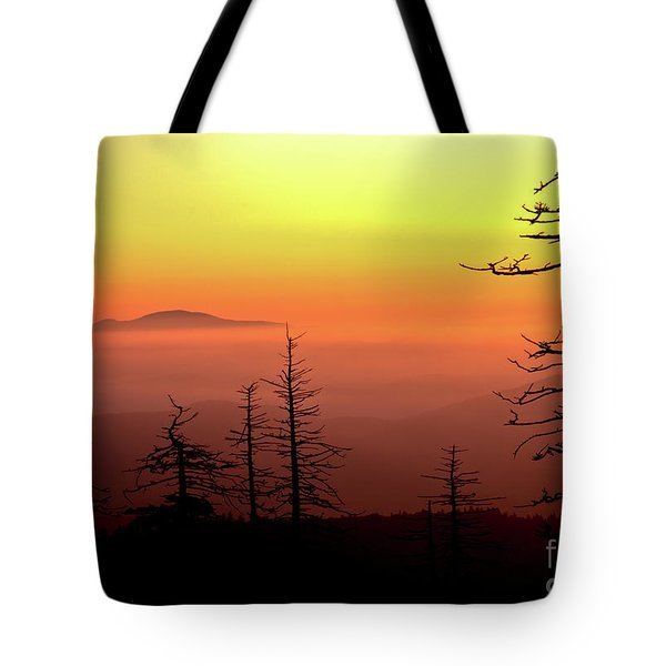 Tote Bag featuring the photograph Candy Corn Sunrise by Douglas Stucky