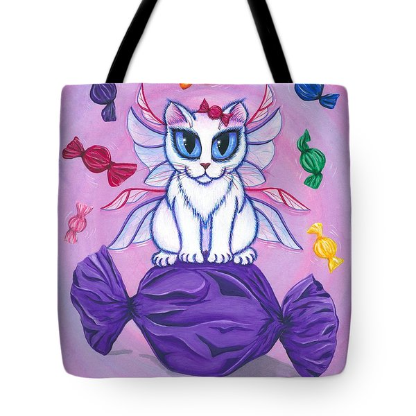 Candy Fairy Cat, Hard Candy Tote Bag