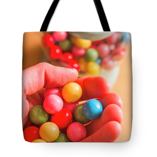 Candy Hand At Lolly Store Tote Bag