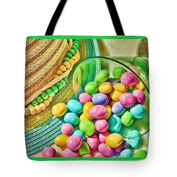 Candy Jumble Tote Bag by Pamela Blizzard