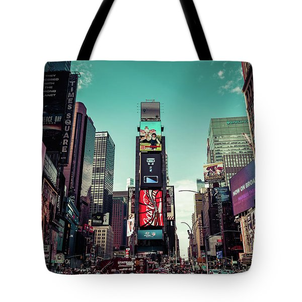 Candy Land Nyc Tote Bag by AJS Photography