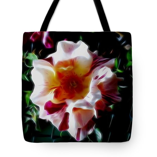 'candy Land' Rose In Abstract Tote Bag