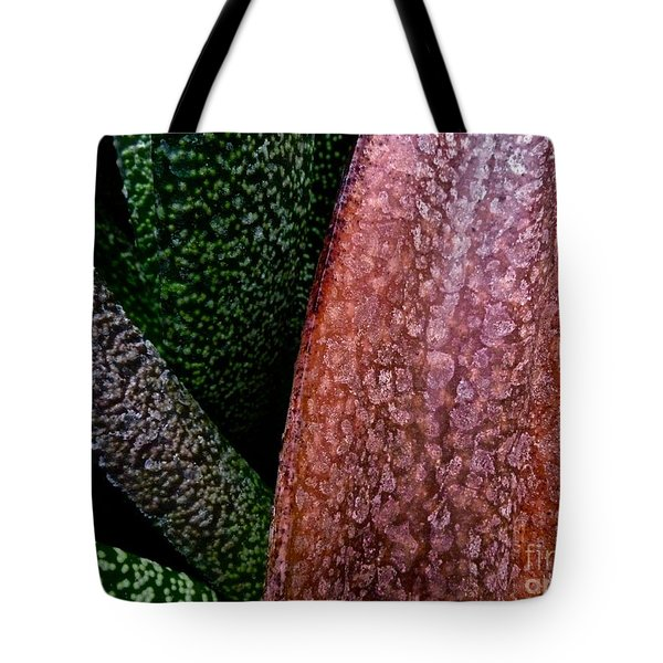 Candy Leaves Tote Bag by Tim Good