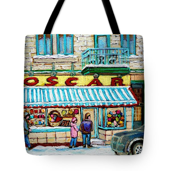 Candy Shop Tote Bag by Carole Spandau