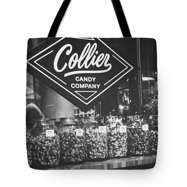 Candy Store- Ponce City Market - Black And White Tote Bag