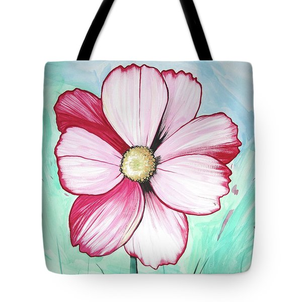 Candy Stripe Cosmos Tote Bag