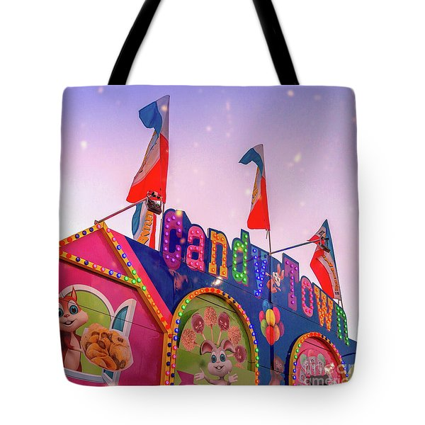 Tote Bag featuring the photograph Candytown by Cindy Garber Iverson