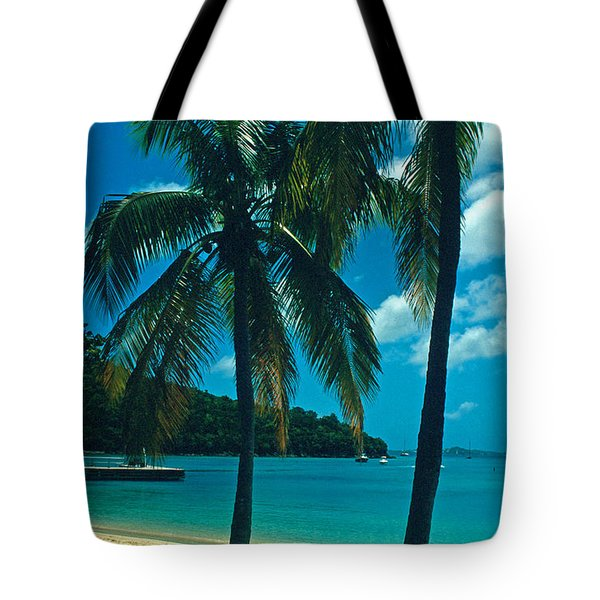 Caneel Bay Palms Tote Bag by Kathy Yates