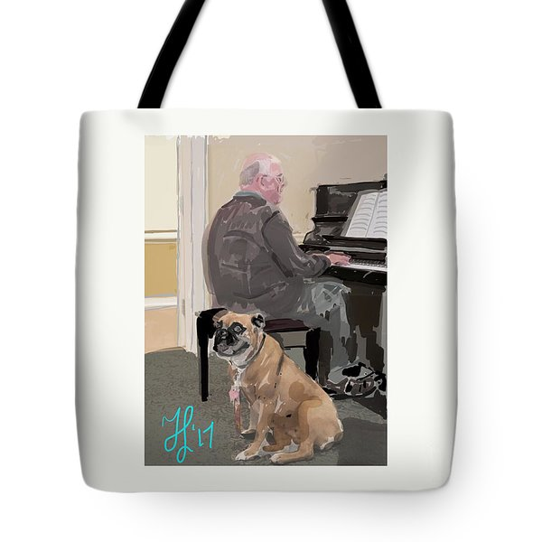 Canine Composition Tote Bag