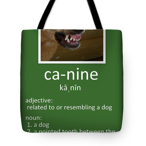 Canine Poster Tote Bag