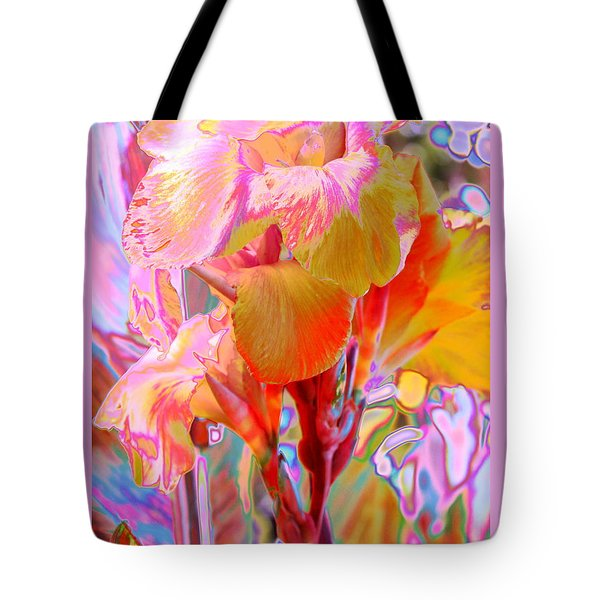 Canna Abstract 3 Tote Bag