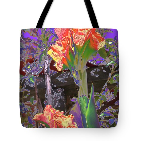 Canna Abstract 6 Tote Bag