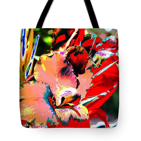 Canna Abstract 7 Tote Bag